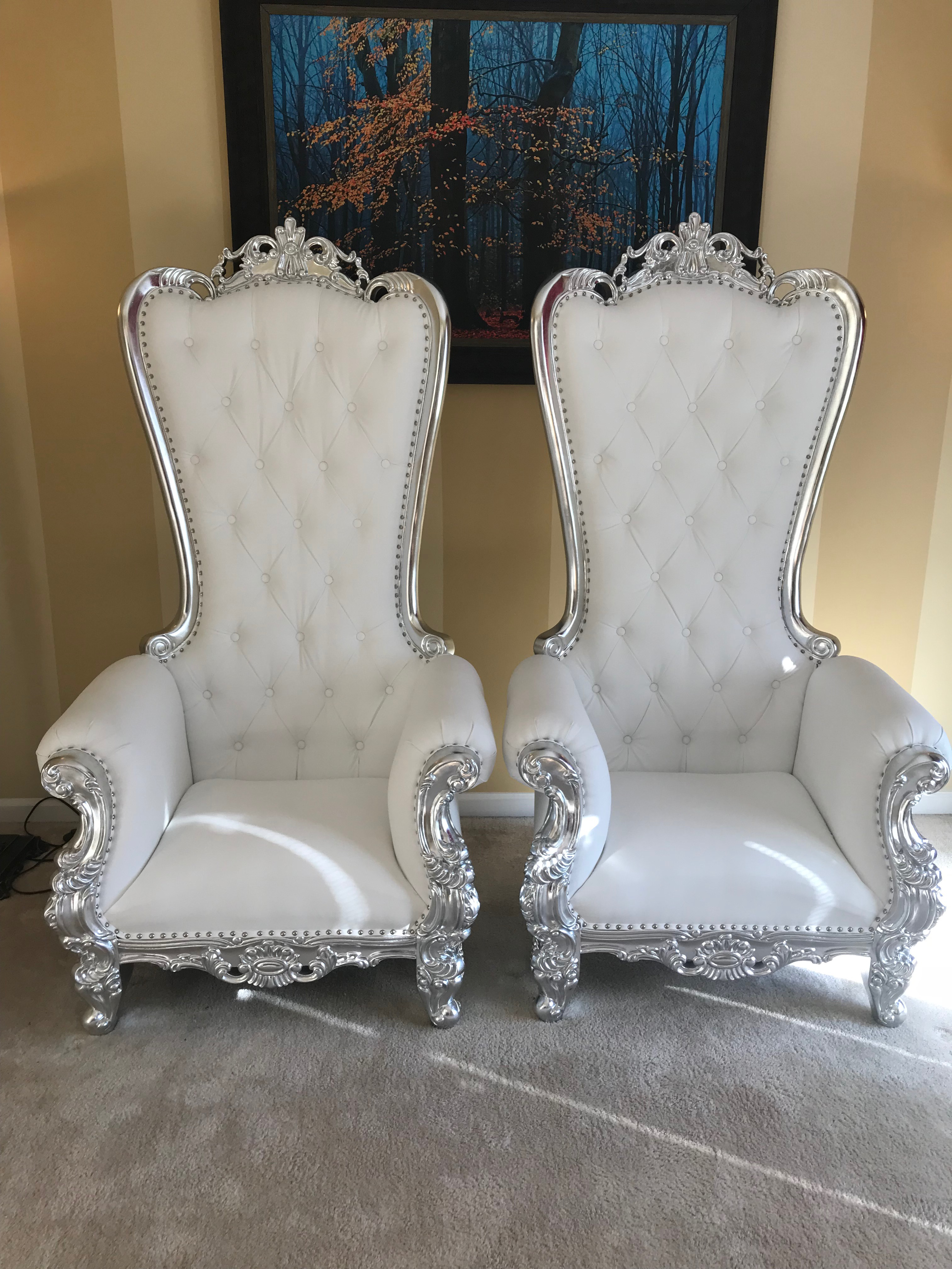 Double Throne Chairs Rental